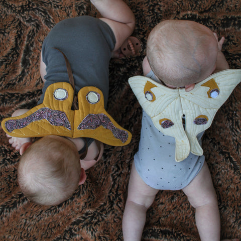 Baby - Animal Gum Emperor wings sewing pattern by twig + tale