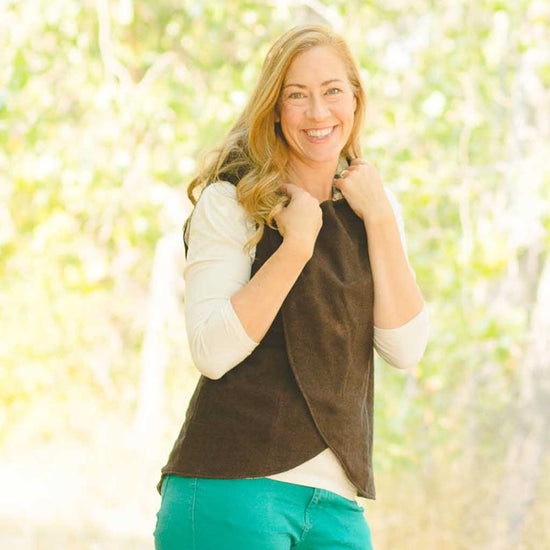 women's crossroads vest pdf digital sewing pattern by Twig + Tale 7