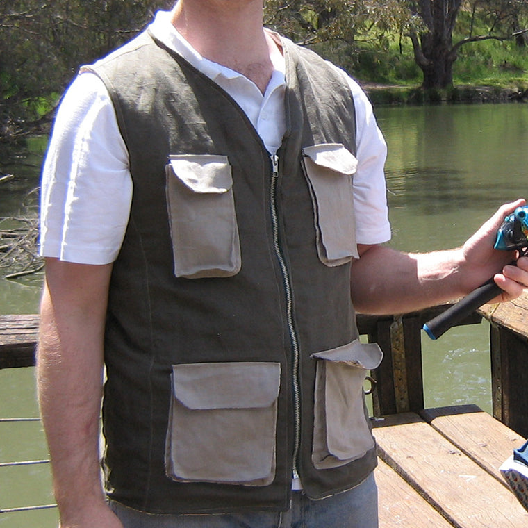Fisherman Vest PDF digital sewing pattern by Twig + Tale