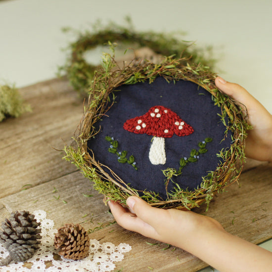 Toadstool Embroidery Pattern