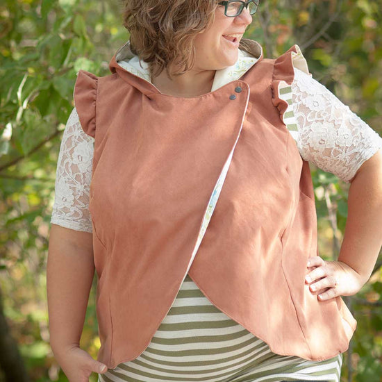 women's crossroads vest pdf digital sewing pattern by Twig + Tale 15