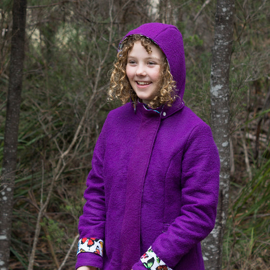 Women's Teen Forester Coat - PDF digital sewing pattern by Twig + Tale