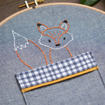 Woodland Fox + Mushroom Pocket - PDF digital Embroidery pattern by Twig + Tale 3