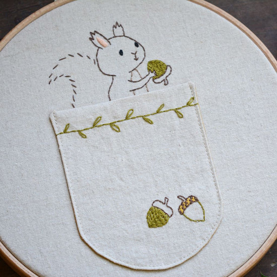 Woodland Squirrel - PDF digital embroidery pattern by Twig and Tale 3