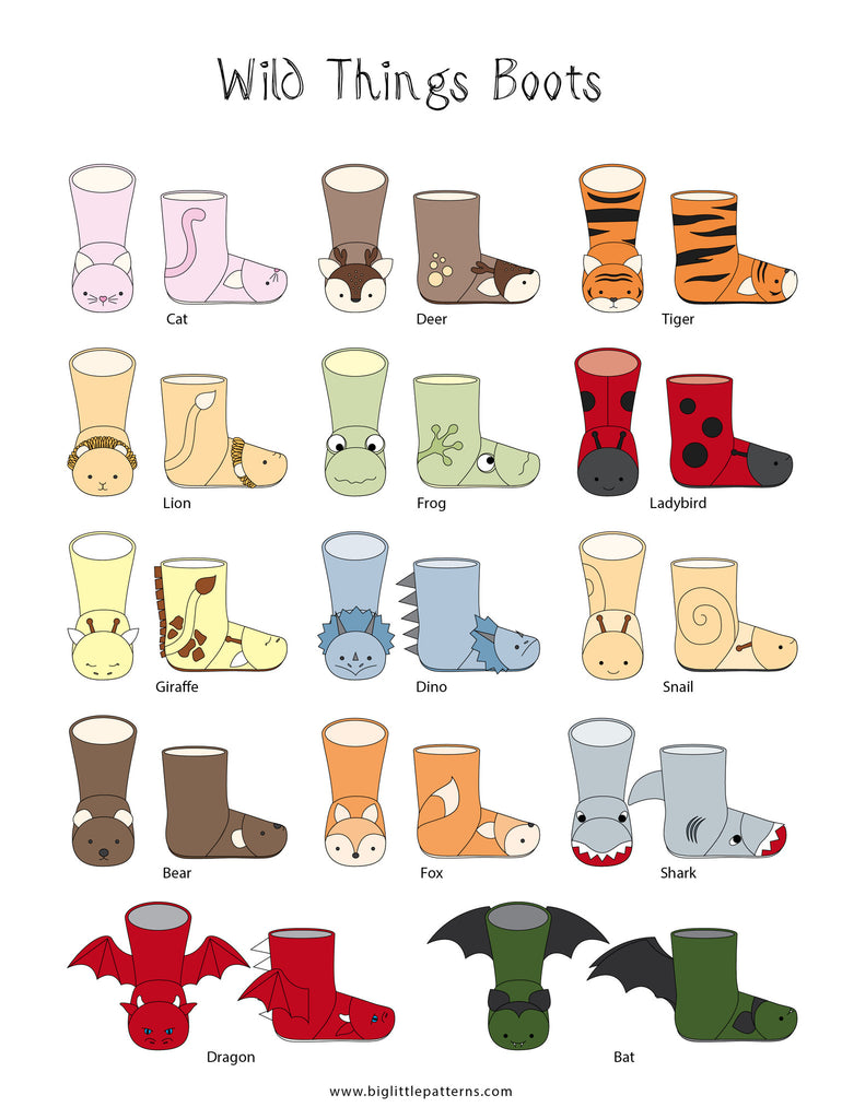 Wild Things Boots for Big Kids - Twig + Tale  - Digital PDF Download - 21