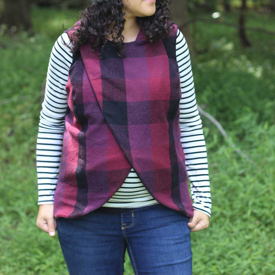 women's crossroads vest pdf digital sewing pattern by Twig + Tale 9
