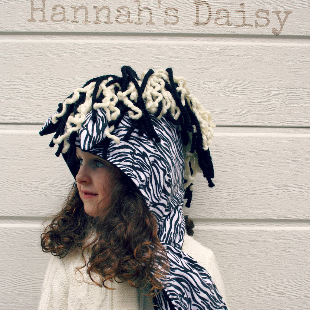 Wild Things Hooded Scarf + Tails - Twig + Tale  - Digital PDF Download - 12