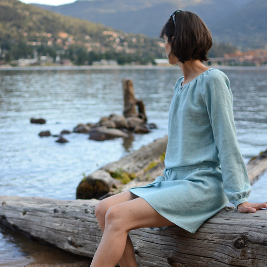 Women's Driftwood Blouse + dress - PDF digital sewing pattern by Twig + Tale 2