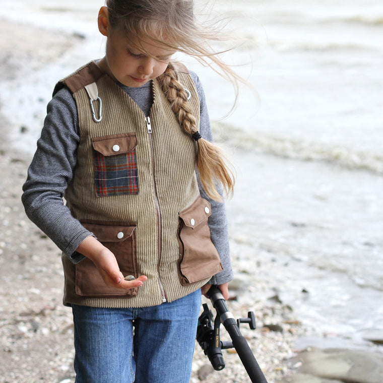 Children's Fishermans Vest PDF digital Sewing pattern by Twig and Tale