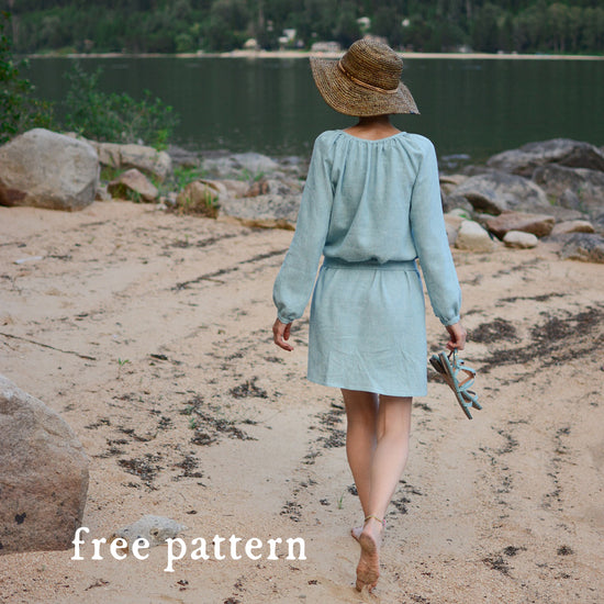 Women's Driftwood Blouse + Dress sewing pattern by Twig and Tale 8