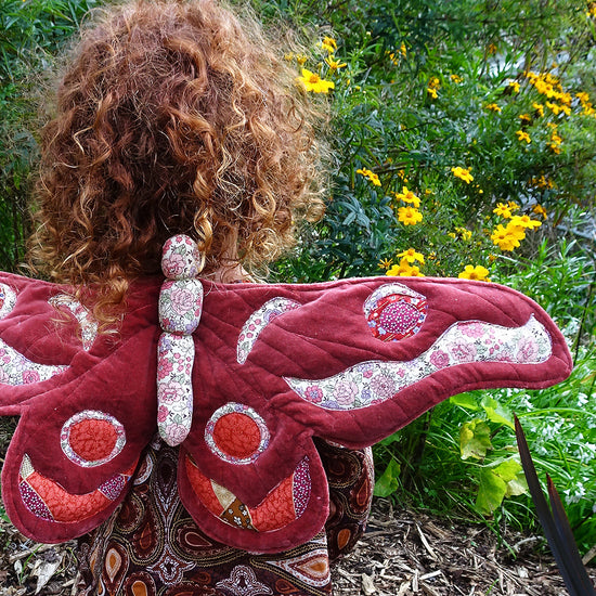 Gum Emperor Butterfly Wings Sewing Pattern - Twig and Tale - PDF digital download 6