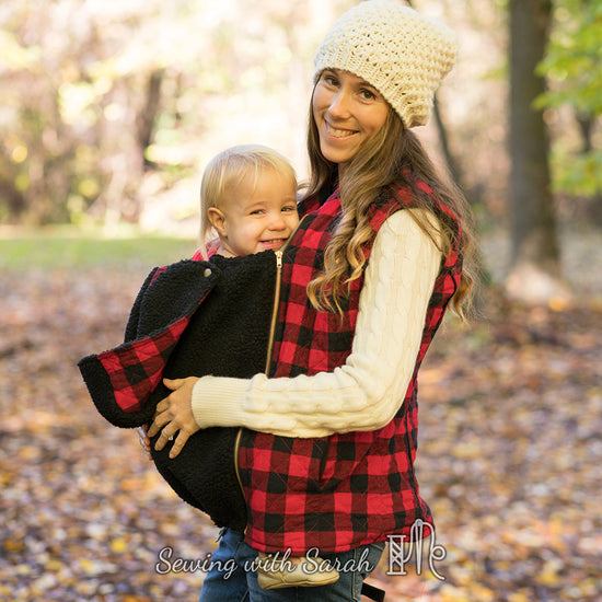 Nestledown Babywearing Vest for Women PDF sewing pattern by Twig + Tale 2