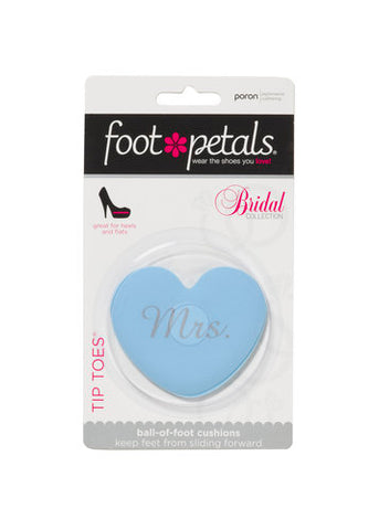 "Foot Petals® -Blue Bridal (""Mrs."" or ""I DO"") Tip Toes"