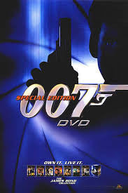 007 Special Edition DVD Movie Poster 27X40 Used James Bond