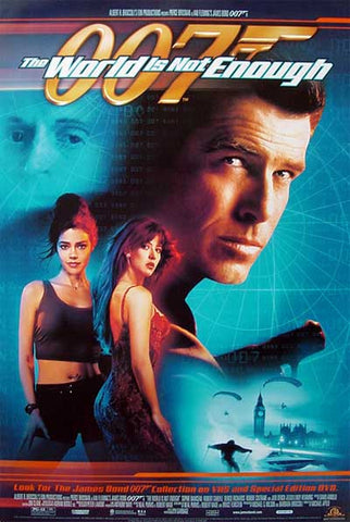 007 The World Is Not Enough 1999 Movie Poster 27x40 James Bond Used Pierce Brosnan
