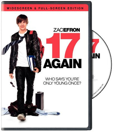17 Again Movie Used DVD Widescreen & Full Screen Edition 2009 UPC794043125041