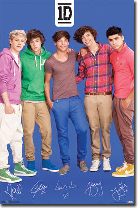1D – Blue Music Poster 22x34 RP5771  UPC017681057771 One Direction