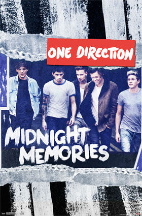1D - Midnight Memories Music Poster RP13303 UPC882663033034 One Direction 22x34