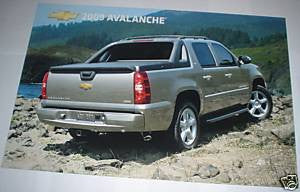 2009 Chevrolet Avalanche 11X17 Half size cardboard poster used