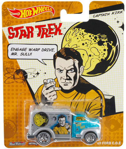 New 2014 Hot Wheels Star Trek Die-Cast Car Captain Kirk '49 Ford C.O.E. Truck