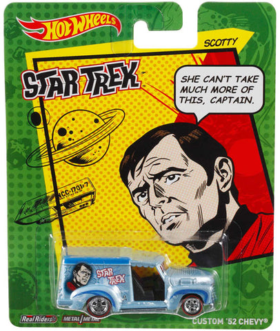 New 2014 Hot Wheels Star Trek Die-Cast Car Scotty Custom '52 Chevy Truck