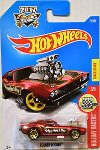 New 2017 Hot Wheels Roger Dodge Valentine's Day Car Holiday Racers