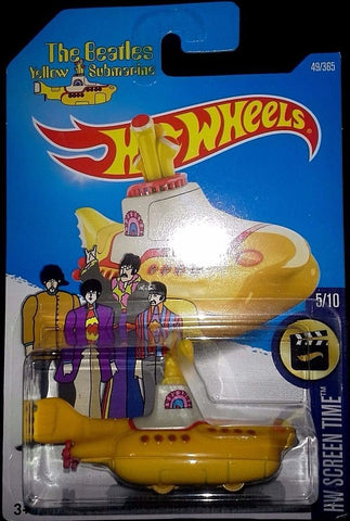 New 2017 Hot Wheels The Beatles Yellow Submarine HW Scrren Time 5-10 Car