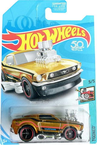 New 2018 Hot Wheels 1968 Tooned Mustang Super Treasure Hunt Car '68