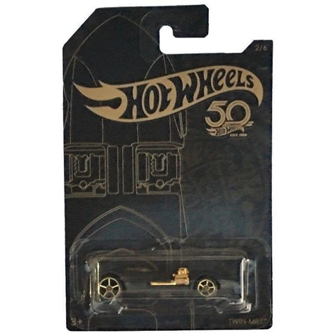 New 2018 Hot Wheels Black and Gold Twin Mill Car