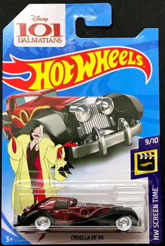 New 2018 Hot Wheels Cruella De Vil Super Treasure Hunt Car 101 Dalmatians Disney