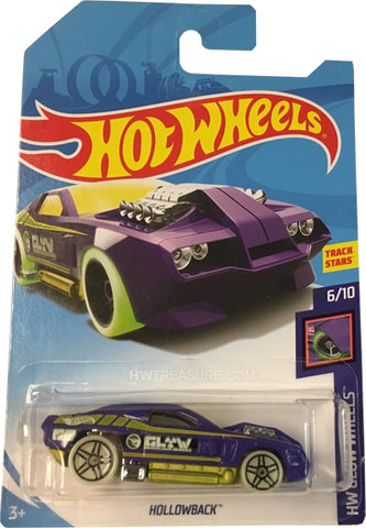 New 2018 Hot Wheels Hollowback Treasure Hunt Car 6-10 HW Glow Wheels