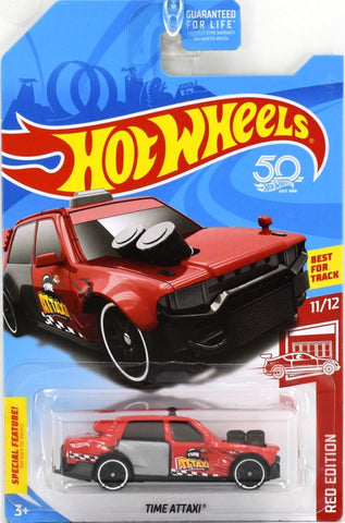 New 2018 Hot Wheels Time Attaxi Red Edition 50th Anniversary Target Exclusive Car