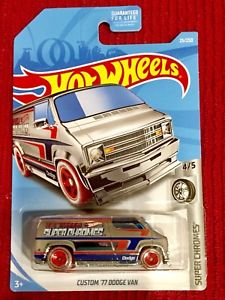 New 2018 Hot Wheels Custom '77 Dodge Van Super Chromes