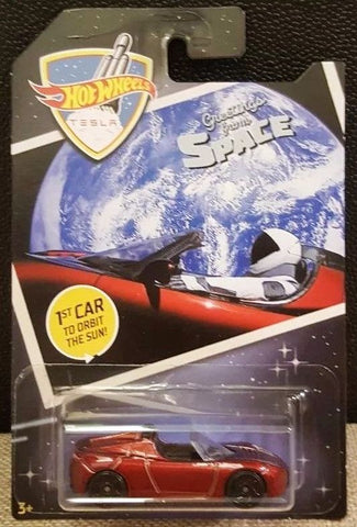 New 2019 Hot Wheels '08 Tesla Roadster First Car In Orbit 2008 Car