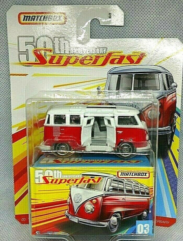 New 2019 Matchbox 50th Anniversary Superfast '59 Volkswagon 23 Microbus