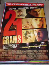 21 Grams Movie Poster 27x40 used