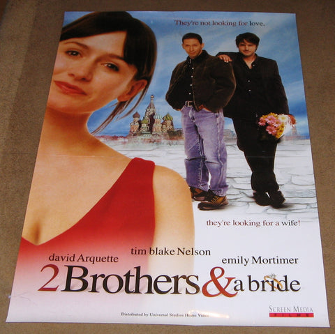 2 Brothers & A Bride 2003 Movie Poster 27x40 Used David Arquette