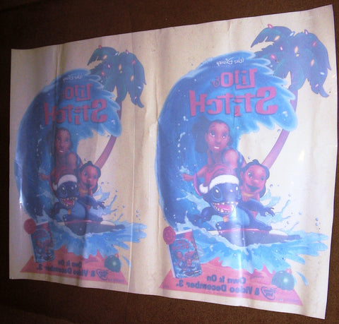 Lilo & Stitch Window Clings Lot of 2 13x20 Each New