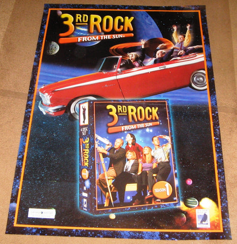 3rd Rock From the Sun Season 1 Poster Tv show used 27x40