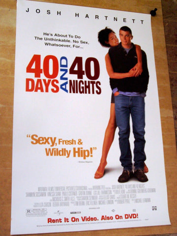 40 Days and 40 Nights Movie Poster 27x40 used