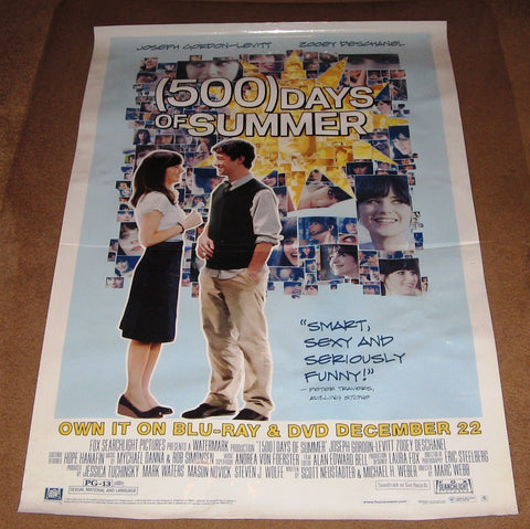 (500) Days of Summer Movie Poster 27x40 Used