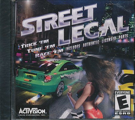 Street Legal PC Game By Activision Value Publishing Used 2002