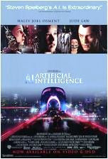 A.I. Artificial Intelligence Movie Poster 27x40 Used Steven Spielberg