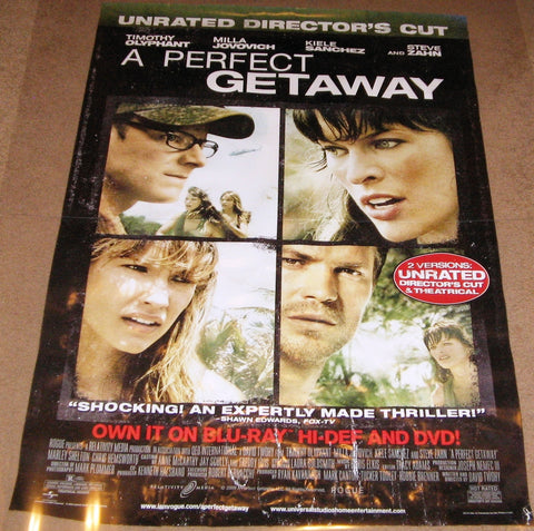 A Perfect Getaway Movie Poster 27x40  Used Webster Williams, Matt Birman, Timothy Olyphant, Travis Willingham, Tory Kittles, Dale Dickey, Holt McCallany, Anthony Ruivivar, Peter Navy Tuiasosopo, Kiele Sanchez, Steve Zahn