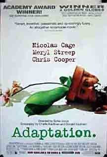 Adaptation Movie Poster 27X40 Used Nicolas Cage, Meryl Streep, Chris Cooper