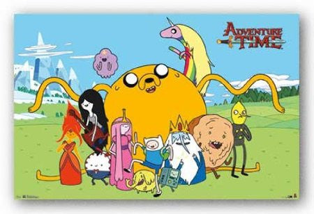 Adventure Time – Group Cartoon RP5796 22x34  Used Poster UPC017681057964