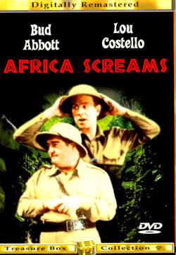 Africa Screams 1949 Digitally Remastered Treasure Box Collection DVD Used UPC728665900007