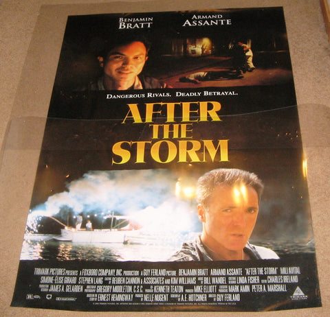 After The Storm 2001 Movie Poster 27x40 Used
