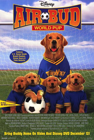 Air Bud World Pup 2001 Movie Poster 27x40 Disney Used