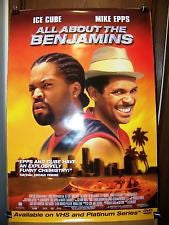 All About The Benjamin's Movie Poster 27x40   used